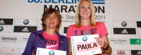 Irina Mikitenko and Paula Radcliffe - Berlin 2011
