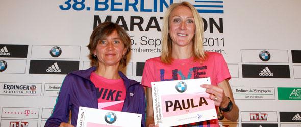 Irina Mikitenko and Paula Radcliffe - Berlin 2011