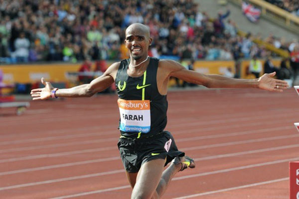 Mo Farah success at Birmingham Grand Prix