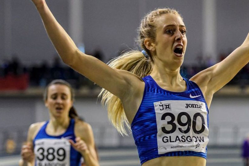 Reekie sets new British 800m indoor record